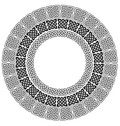 celtic mandala with 3 different elements in rings vector image