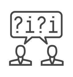 dialogue thin line icon vector image vector image