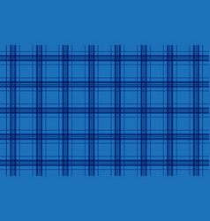 Fabric in blue color seamless tartan pattern vector