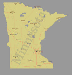 Minnesota state map with community assistance vector