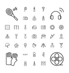 37 professional icons vector