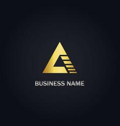 a triangle shape company logo vector image