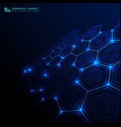 abstract futuristic technology gradient blue vector image