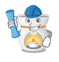 Architect therapy aroma lamp and candle character vector