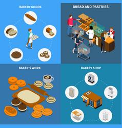 bakery bread design concept vector image