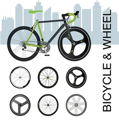 Bicycle wheel Set vector