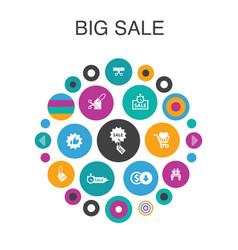 Big sale infographic circle concept smart ui vector