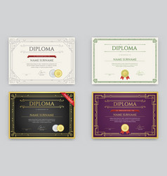 Big set of diploma or certificate premium design vector