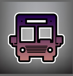 bus sign violet gradient vector image