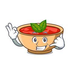 Call me tomato soup character cartoon vector