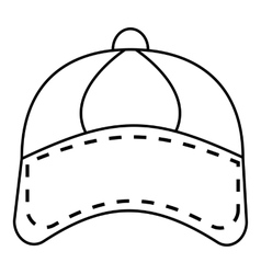 Cap icon outline style vector