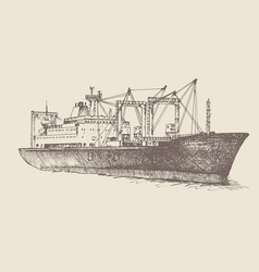 Cargo ship reefer baltic forward vector