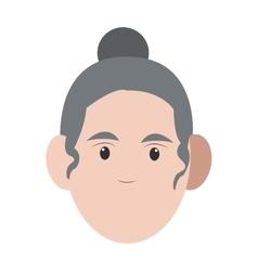 Caucasian senior woman icon vector