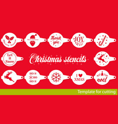 Christmas collection coffee stencils vector