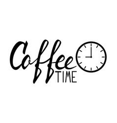 Coffee lettering logo vector