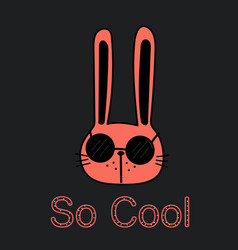 Cool bunny vector