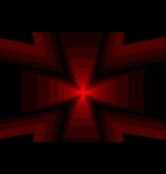 cross - abstract geometric background vector image