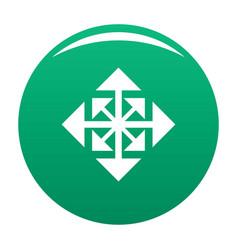 Cursor displacement arrow icon green vector