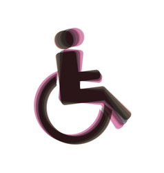 disabled sign colorful icon vector image