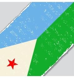 Djibouti grunge flag vector