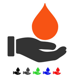 Donate blood flat icon vector