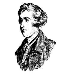 Edmund burke vintage vector