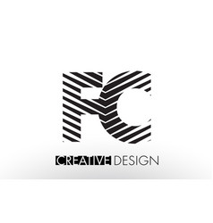 fc f c lines letter design with creative elegant vector image