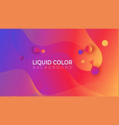 fluid promotion gradient shapes composition vector image