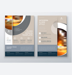 Flyer with minimal geometric design modern vector