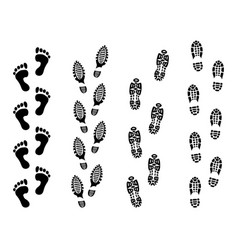 Footsteps isolate on white background footprint vector