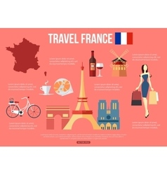 France travel background with place for text Set vector