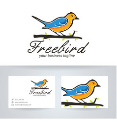 free bird logo design vector image