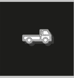 Free shipping icon delivery truck isolated vector