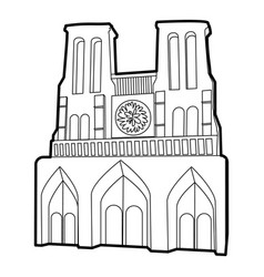 french castle icon outline style vector image