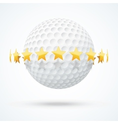 golf ball with golden stars vector image