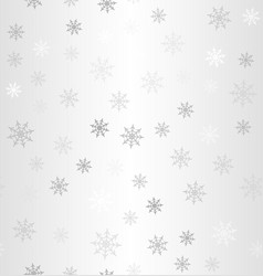 gradient snowflake pattern winter seamless vector image