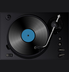 gramophone with record vector image