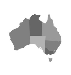 Grey blank map of australia vector