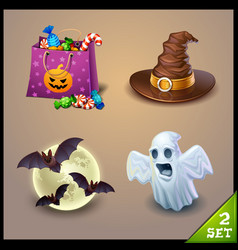 Halloween icons-set 2 vector