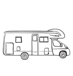 Hand drawn transport for tarvel vector image
