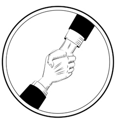 Helping Hands sign vector image