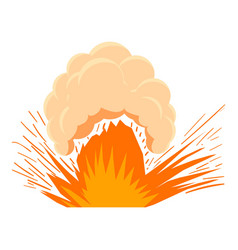 High powered explosion icon cartoon style vector