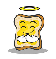 innocent face bread character cartoon vector image