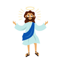 jesus christ son god with halo vector image