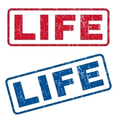 Life Rubber Stamps vector image