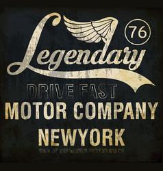 Motorcycle racing legendary typography t-shirt vector