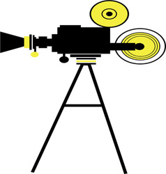 Movie Camera Action vector image