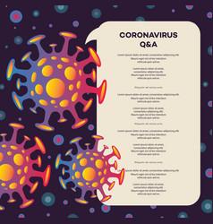 novel coronavirus 2019-ncov banner vector image