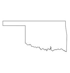 oklahoma ok state border usa map outline vector image