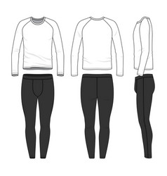 Outline drawing templates of sports clothing set vector